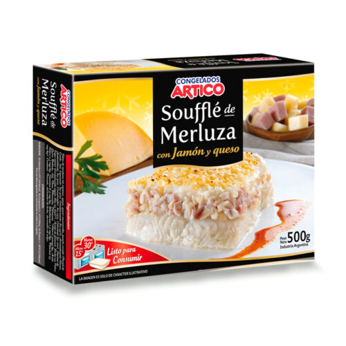 Soufle Merluza Jamón Y Queso 1/2 Kg