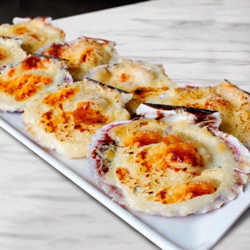 Ostiones Parmesanos Gourmet Con Coral 8 Unidades