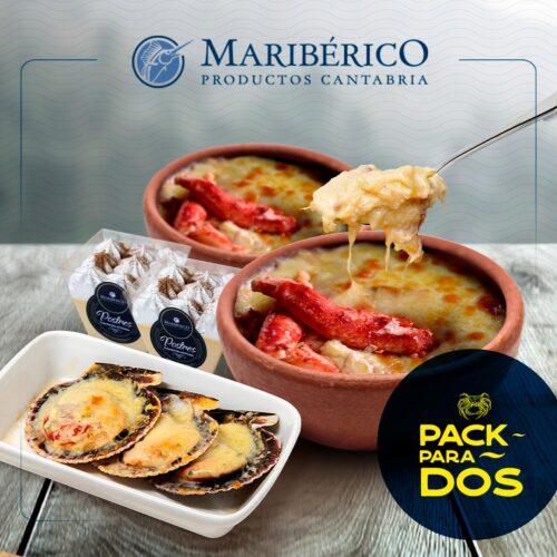 Pack Para 2 – 2 Pastel Centolla + 2 Postres A Elección + 1 Bandeja Machas Parmesanas