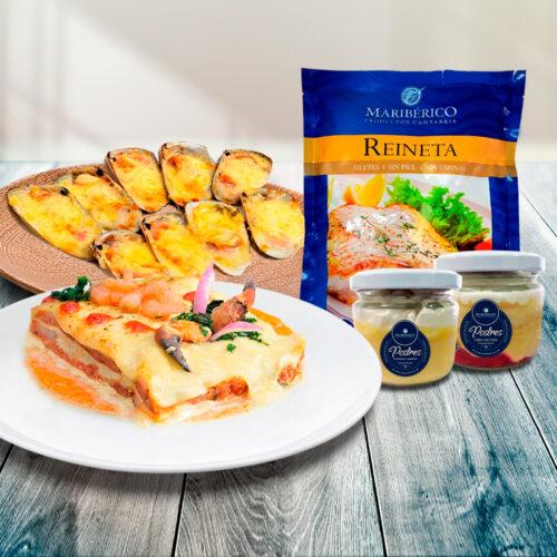 Pack Para 2 – Lasaña + Machas Parmesana + Postres + GRATIS Reineta